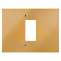 Cover Plate Chorus GEO IT, Metallised Technopolymer, Gold, 1 module, Horizontal