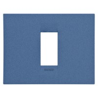 Cover Plate Chorus GEO IT, Painted Technopolymer Pastel Colours, Sea Blue, 1 module, Horizontal