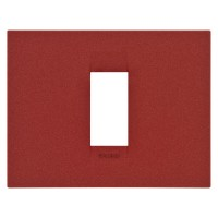 Cover Plate Chorus GEO IT, Painted Technopolymer Pastel Colours, Ruby, 1 module, Horizontal