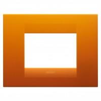 Cover Plate Chorus GEO IT, Technopolymer, Opal Orange, 3 modules, Horizontal