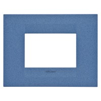 Cover Plate Chorus GEO IT, Painted Technopolymer Pastel Colours, Sea Blue, 3 modules, Horizontal
