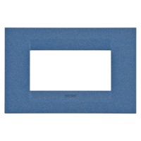Cover Plate Chorus GEO IT, Painted Technopolymer Pastel Colours, Sea Blue, 4 modules, Horizontal