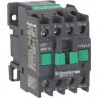 Contactor EasyPact TVS, 3P with (1 N/O) auxiliary contacts, 24V AC coil 50 Hz, 9A