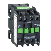Contactor EasyPact TVS, 3P with (1 N/O) auxiliary contacts, 415V AC coi 50 Hz, 9A
