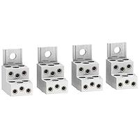 Aluminium connectors for 6 cables, set of 4