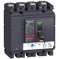 Circuit breaker NSX100 Thermal-magnetic, 100 A, 4P/4d, B