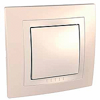 Complete two-way Switch, 10 AX, Ivory/Cream