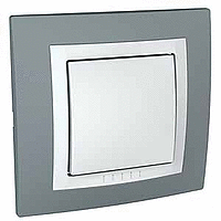 Complete two-way Switch, 10 AX, White/Technical grey