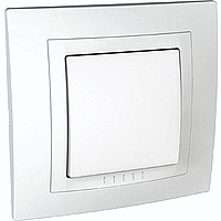 Complete Push-button, 10 A – 250 V AC, White