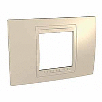 Italian Cover Frame Unica Allegro, Sand yellow, 2 modules