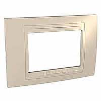 Italian Cover Frame Unica Allegro, Sand yellow, 3 modules