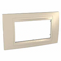 Italian Cover Frame Unica Allegro, Sand yellow, 4 modules