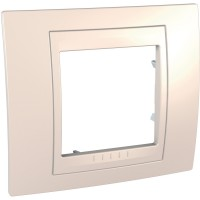 Cover Frame Unica Plus, Ivory/Ivory, 1 gang