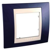 Cover Frame Unica Plus, Indigo blue/Ivory, 1 gang