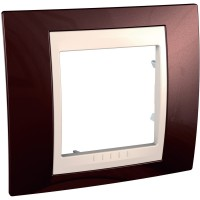 Cover Frame Unica Plus, Terracotta/Ivory, 1 gang