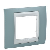 Cover Frame Unica Plus, Water green/Ivory, 1 gang