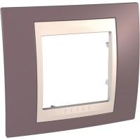 Cover Frame Unica Plus, Mauve/Ivory, 1 gang