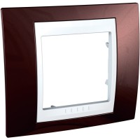 Cover Frame Unica Plus, Terracotta/White, 1 gang