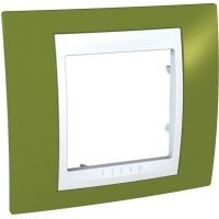 Cover Frame Unica Plus, Pistachio/White, 1 gang