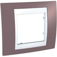 Cover Frame Unica Plus, Mauve/White, 1 gang