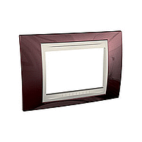 Italian Cover Frame Unica Plus IT, Terracotta/Ivory, 3 modules