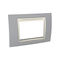 Italian Cover Frame Unica Plus IT, Mist grey/Ivory, 3 modules