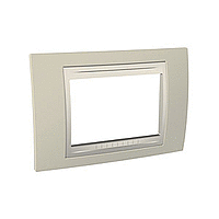 Italian Cover Frame Unica Plus IT, Sand yellow/Ivory, 3 modules