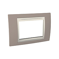 Italian Cover Frame Unica Plus IT, Slate grey/Ivory, 3 modules