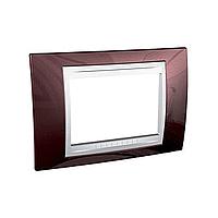 Italian Cover Frame Unica Plus IT, Terracotta/White, 3 modules