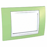 Italian Cover Frame Unica Plus IT, Apple green/White, 3 modules