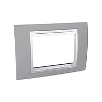 Italian Cover Frame Unica Plus IT, Mist grey/White, 3 modules