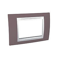 Italian Cover Frame Unica Plus IT, Mauve/White, 3 modules
