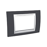 Italian Cover Frame Unica Plus IT, Slate grey/White, 3 modules