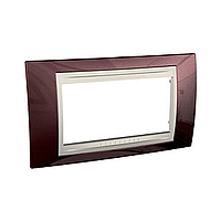 Italian Cover Frame Unica Plus IT, Terracotta/Ivory, 4 modules
