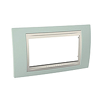 Italian Cover Frame Unica Plus IT, Water green/Ivory, 4 modules