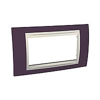 Italian Cover Frame Unica Plus IT, Garnet/Ivory, 4 modules