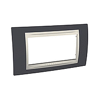 Italian Cover Frame Unica Plus IT, Slate grey/Ivory, 4 modules