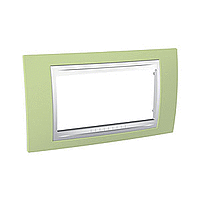 Italian Cover Frame Unica Plus IT, Apple green/White, 4 modules