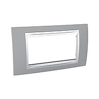 Italian Cover Frame Unica Plus IT, Mist grey/White, 4 modules