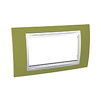 Italian Cover Frame Unica Plus IT, Pistachio/White, 4 modules