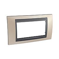 Italian Cover Frame Unica Top IT, Onyx cooper/Graphite, 4 modules