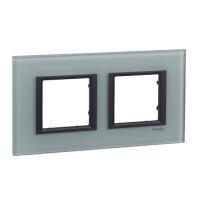 Cover frame Unica Class, Grey glass, 2-gang