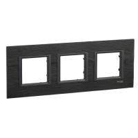 Cover frame Unica Class, Slate, 3-gang