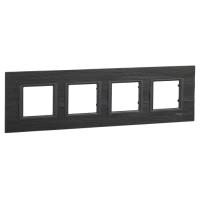 Cover frame Unica Class, Slate, 4-gang
