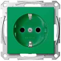 SCHUKO® Socket-outlets for special circuits, Green