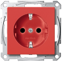 SCHUKO® Socket-outlets for special circuits, Ruby red