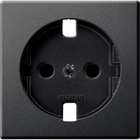 Central plate, shuttered forSCHUKO® socket-outlet Insert, Anthracite