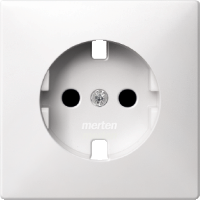 Central plate, shuttered forSCHUKO® socket-outlet Insert, Polar White