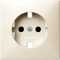 Central plate, shuttered forSCHUKO® socket-outlet Insert, White