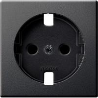 Central plate forSCHUKO® socket-outlet Insert, Anthracite